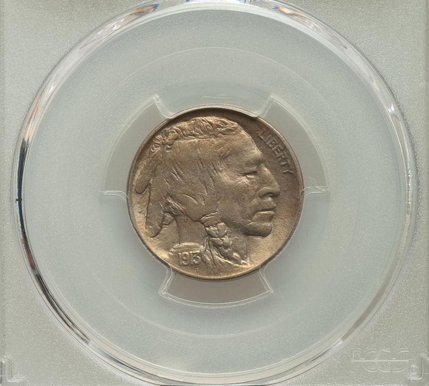 1913 D Type 2 Buffalo Nickel PCGS MS63