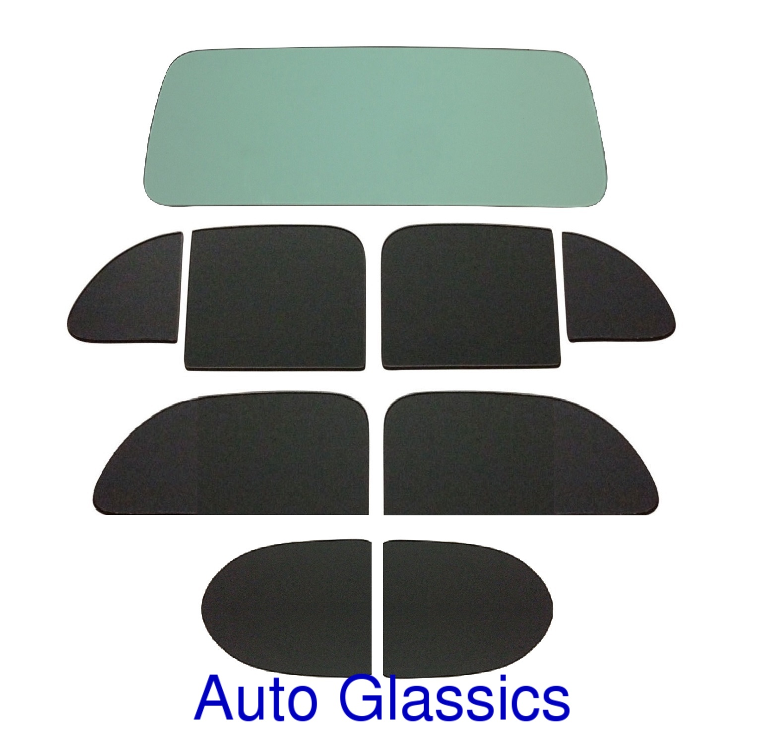 1938 Dodge D8 2 Door Sedan Classic Auto Glass Kit