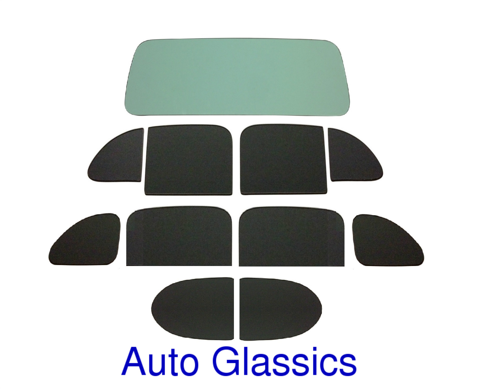 1938 Dodge D8 4 Door Sedan Classic Auto Glass Kit