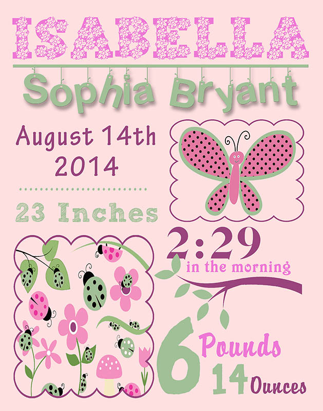 Details about Unique Personalized Baby Girl Birth Dedication Christening  Baptism Gift Print