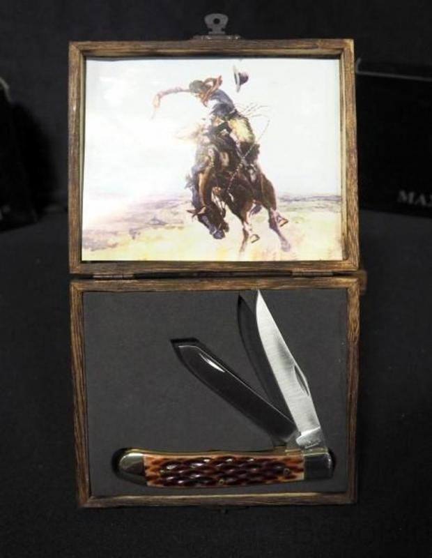 Knife, Maxam Folding Hunting - SKJB2 - NEW - FREE