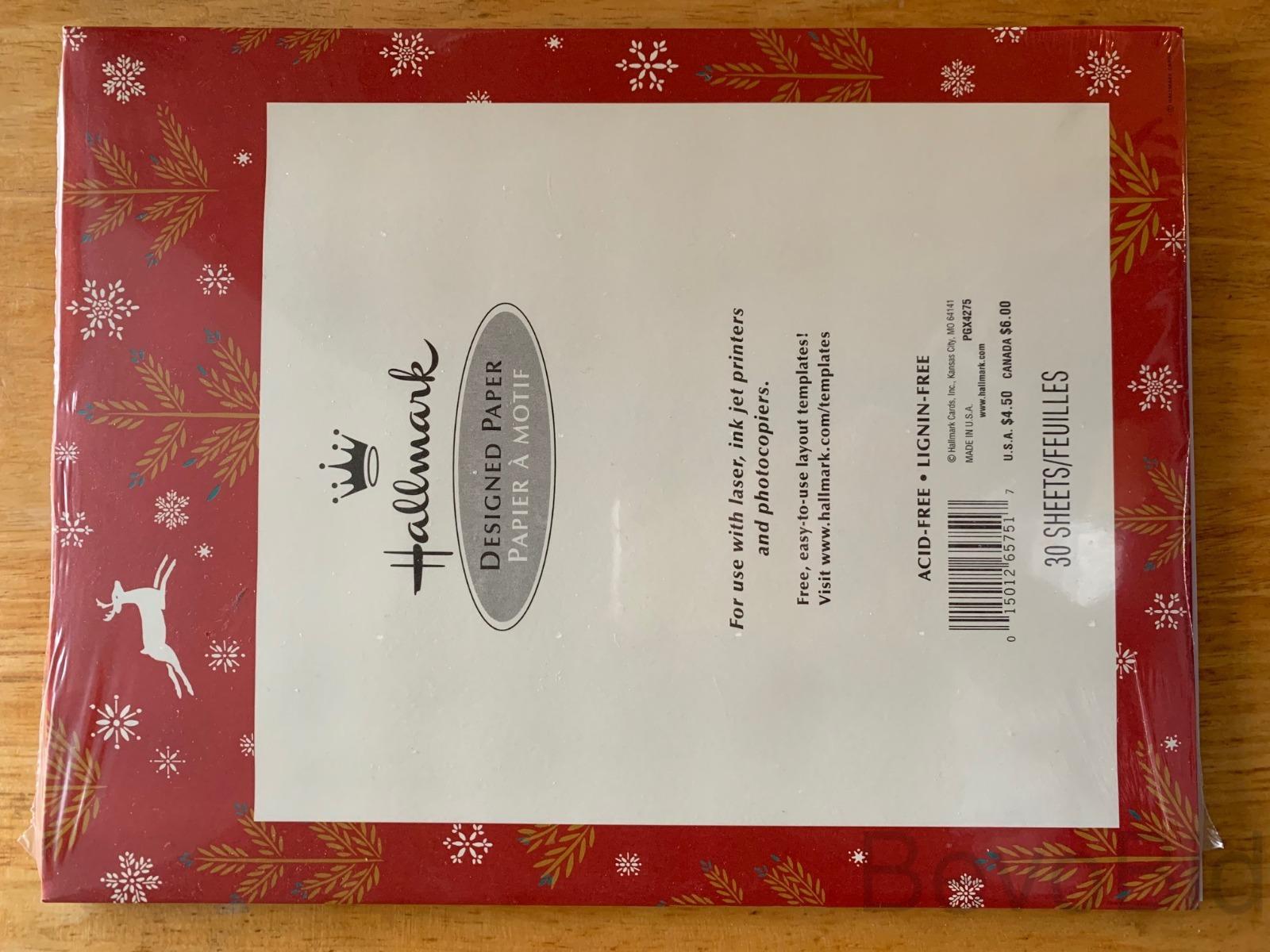 Hallmark Christmas Designed Paper 2 Packs FREE SHI