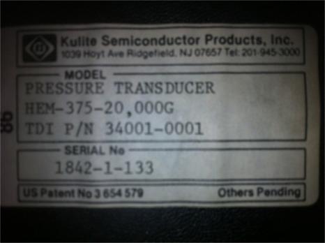 Kulite Pressure Transducer-HEM-375-20,000G, New-Ol