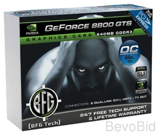 BFG NVIDIA GeForce 8800 GTS OC2 640MB PCI Express