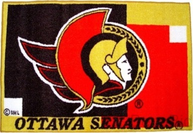 Ottawa Senators Rug / Mat Hockey - NHL - NEW- FREE