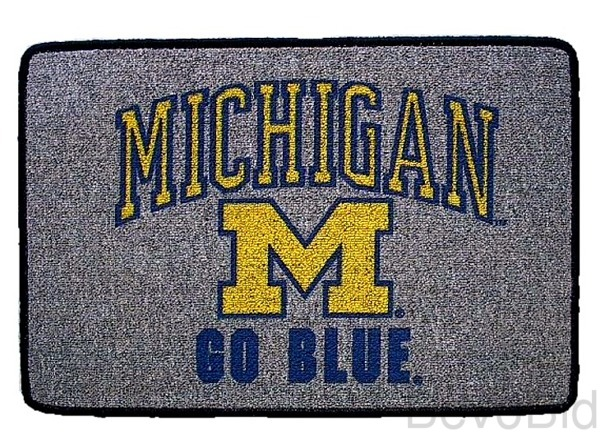 Michigan Go Blue Rug/Mat - New - Free Shipping