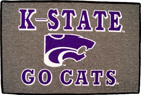 Kansas State Wildcats Welcome Mat/Rug - NEW - Free