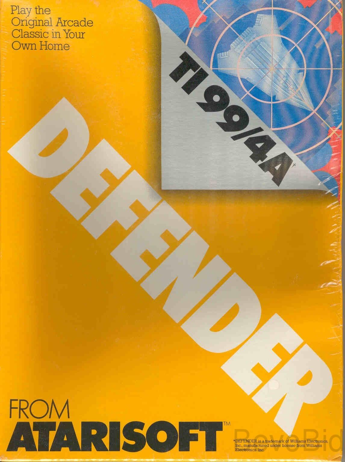 TI-99/4A Defender Game Cartridge (Vintage) NEW, U