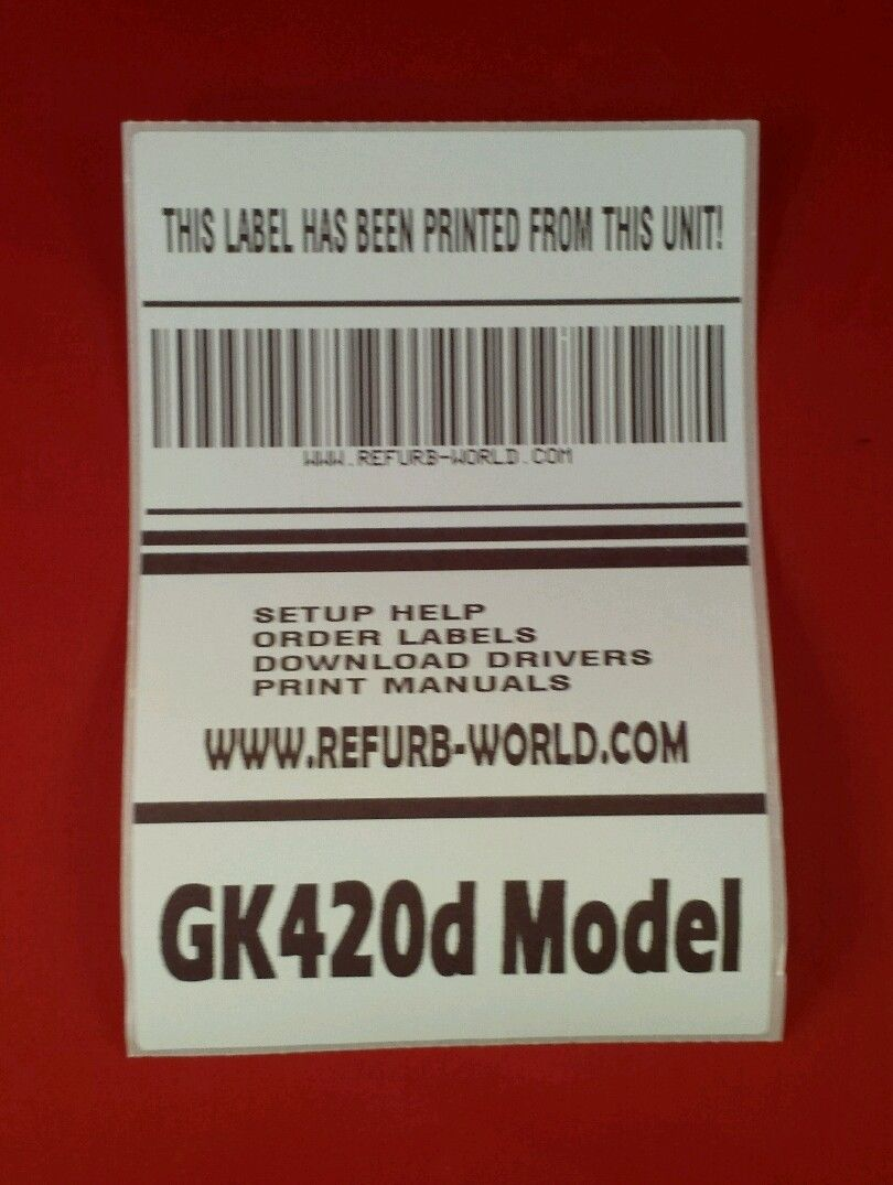 It's just a photo of Invaluable Zebra Gk420d Printing Extra Blank Labels