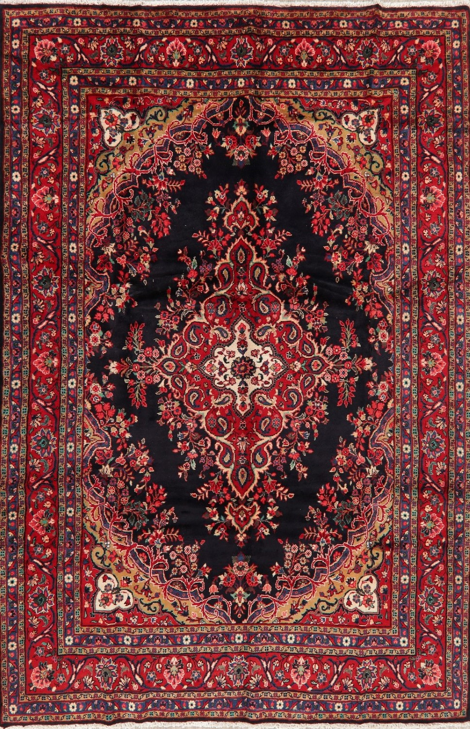 Traditional Floral Lilian Area Rug Wool Hand Knotted Medallion Red Carpet 8 X 11 Ebay