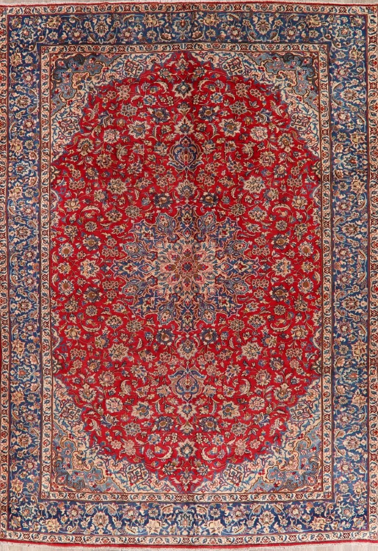 10x15 Room: Vintage RED/BLUE Najafabad Large Floral Oriental Area Rug