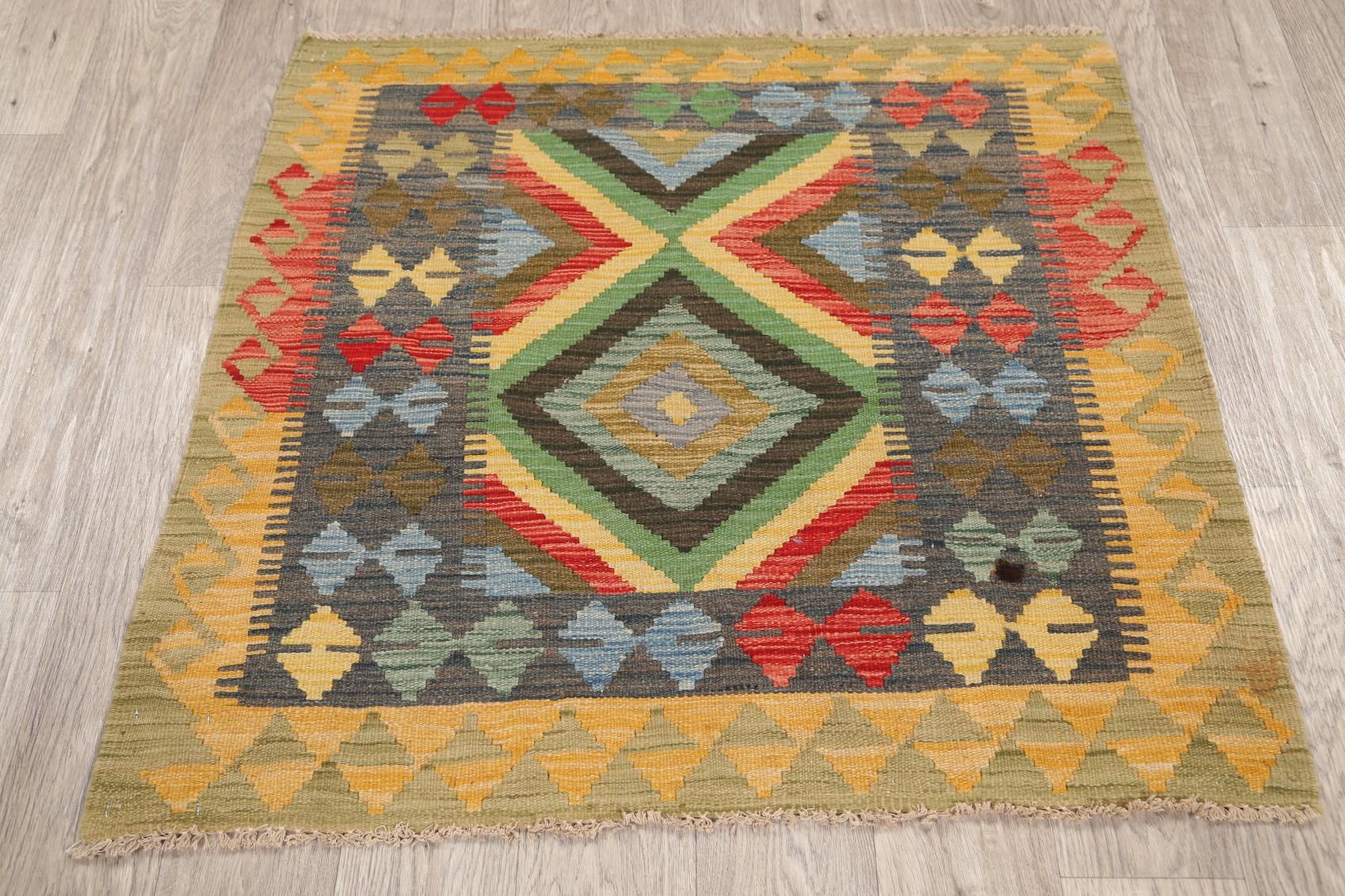 Southwestern Kilim Oriental Area Rug Hand-Woven Reversible ...