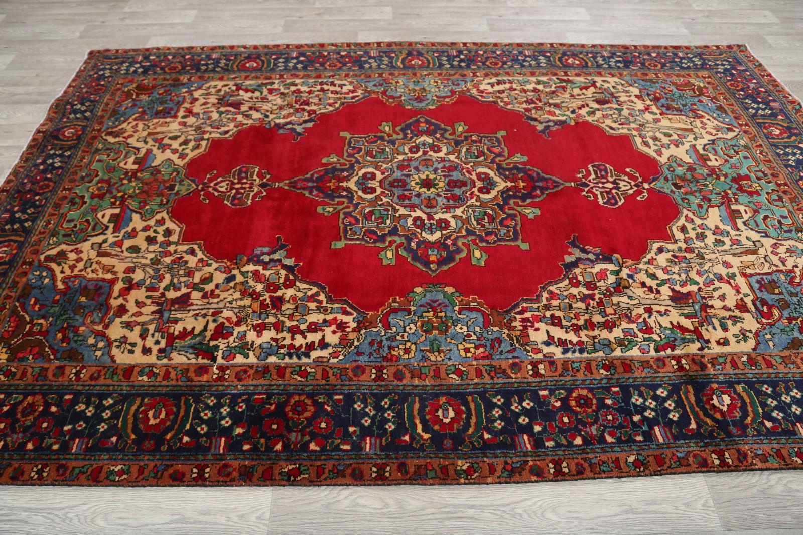 clearance sale 7x10 tabriz persian area rug wool oriental carpet 10 39 2 x 6 39 8 ebay. Black Bedroom Furniture Sets. Home Design Ideas