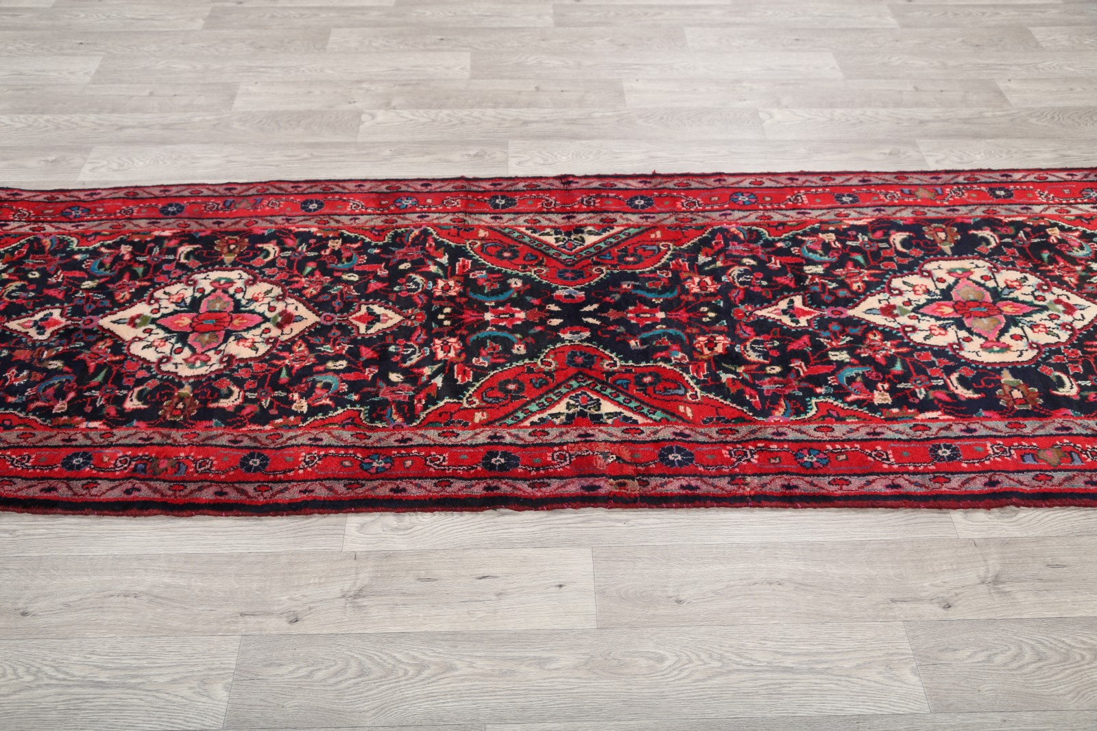 Great Deal 3x11 Hamedan Bibikabad Persian Runner Rug