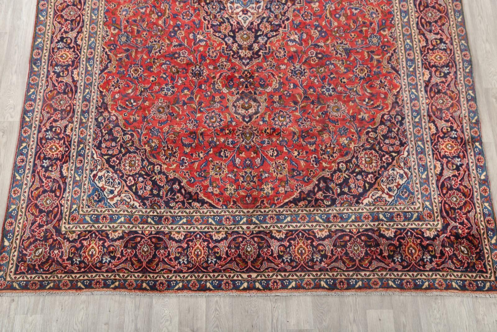 Clearance 9x12 Mashad Persian Area Rug Wool Oriental