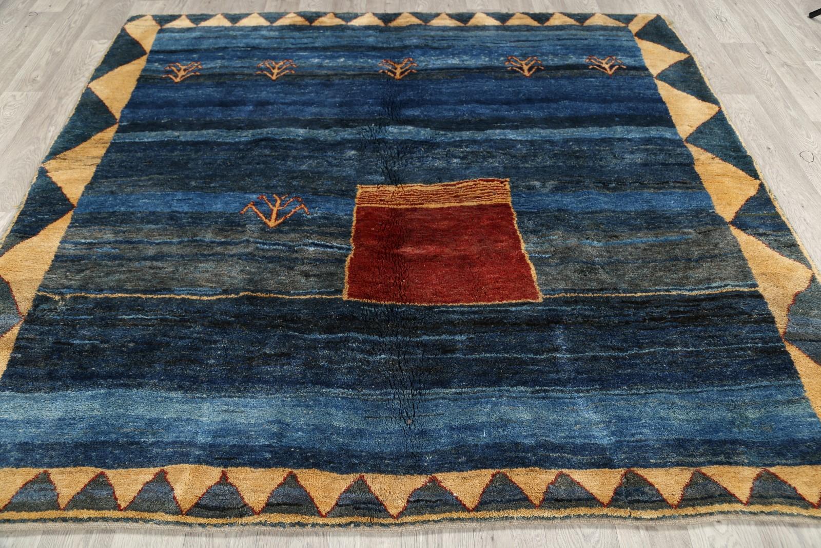 great thick pile square 7x7 gabbeh persian area rug oriental carpet 7 39 5 x 7 39 ebay. Black Bedroom Furniture Sets. Home Design Ideas