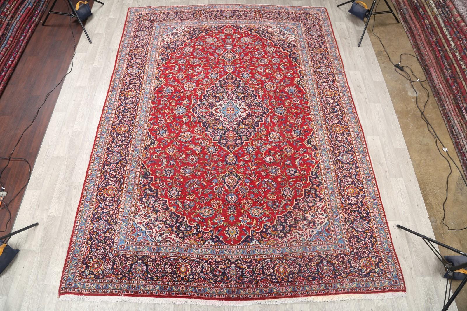 clearance 10x13 kashan persian area rug wool oriental carpet 13 39 4 x 9 39 8 ebay. Black Bedroom Furniture Sets. Home Design Ideas
