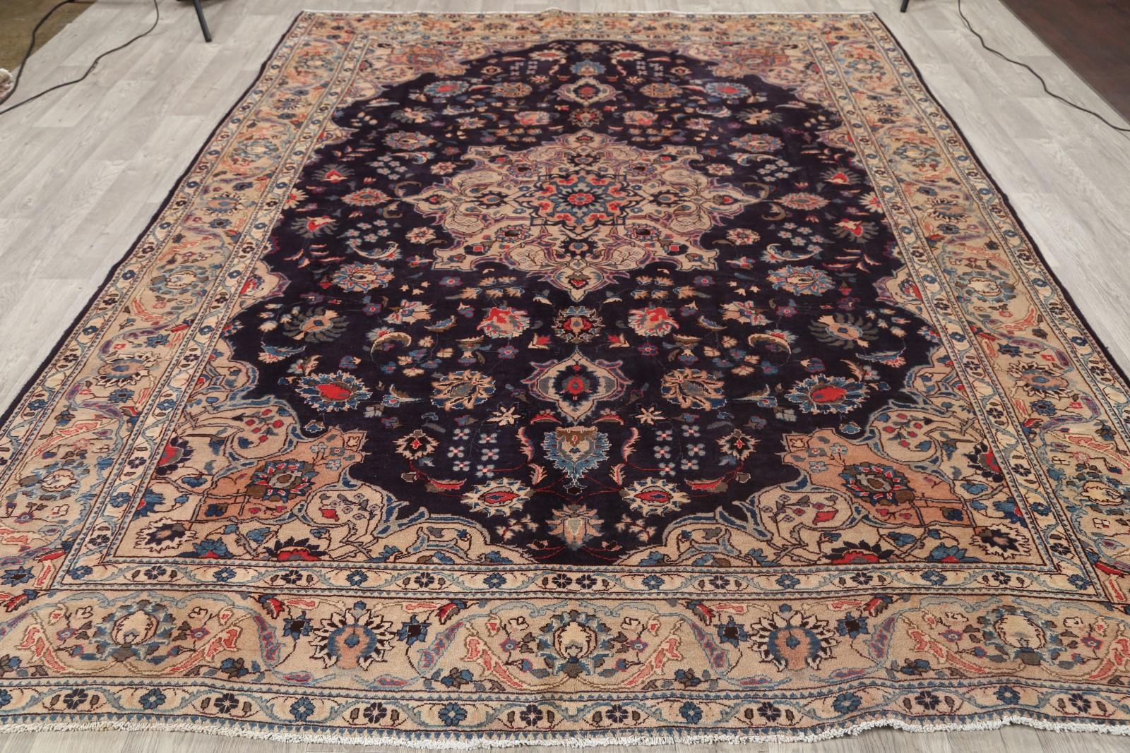 clearance floral 8x11 kashan persian area rug oriental carpet 10 39 7 x 8 39 2. Black Bedroom Furniture Sets. Home Design Ideas