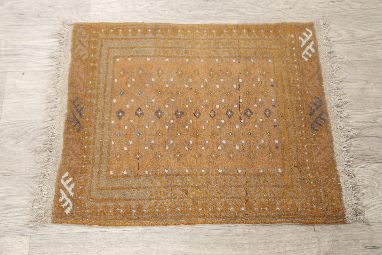 Muted Stunning Geometric Square 2x2 Balouch Oriental Area