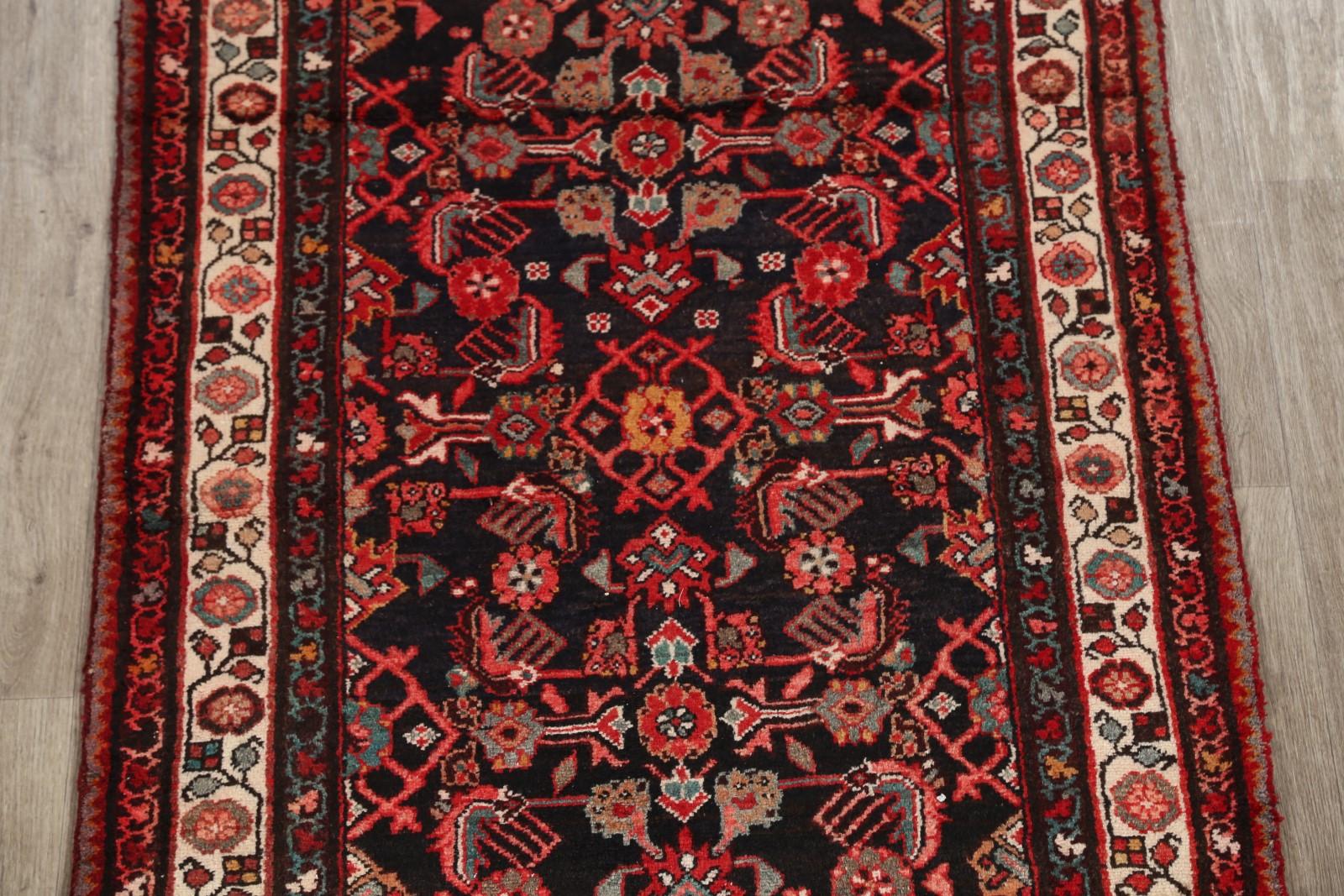 Palace Size Geometric 3x13 Hamedan Oriental Runner Rug