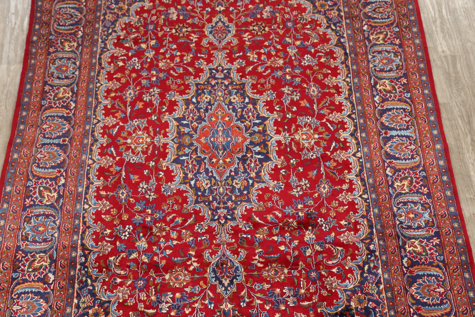 Beautiful Floral 8x11 Kashmar Persian Area Rug Oriental