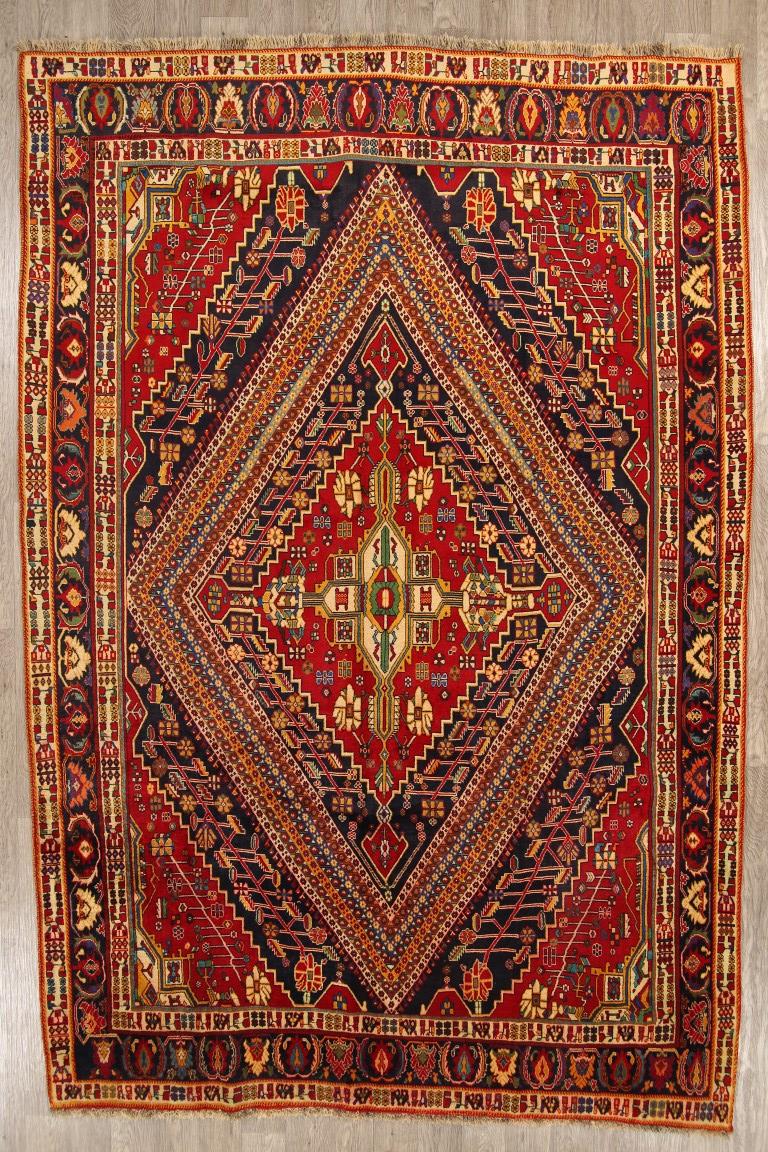 Outstanding Geometric 7x11 Wool Kashkoli Oriental Area Rug