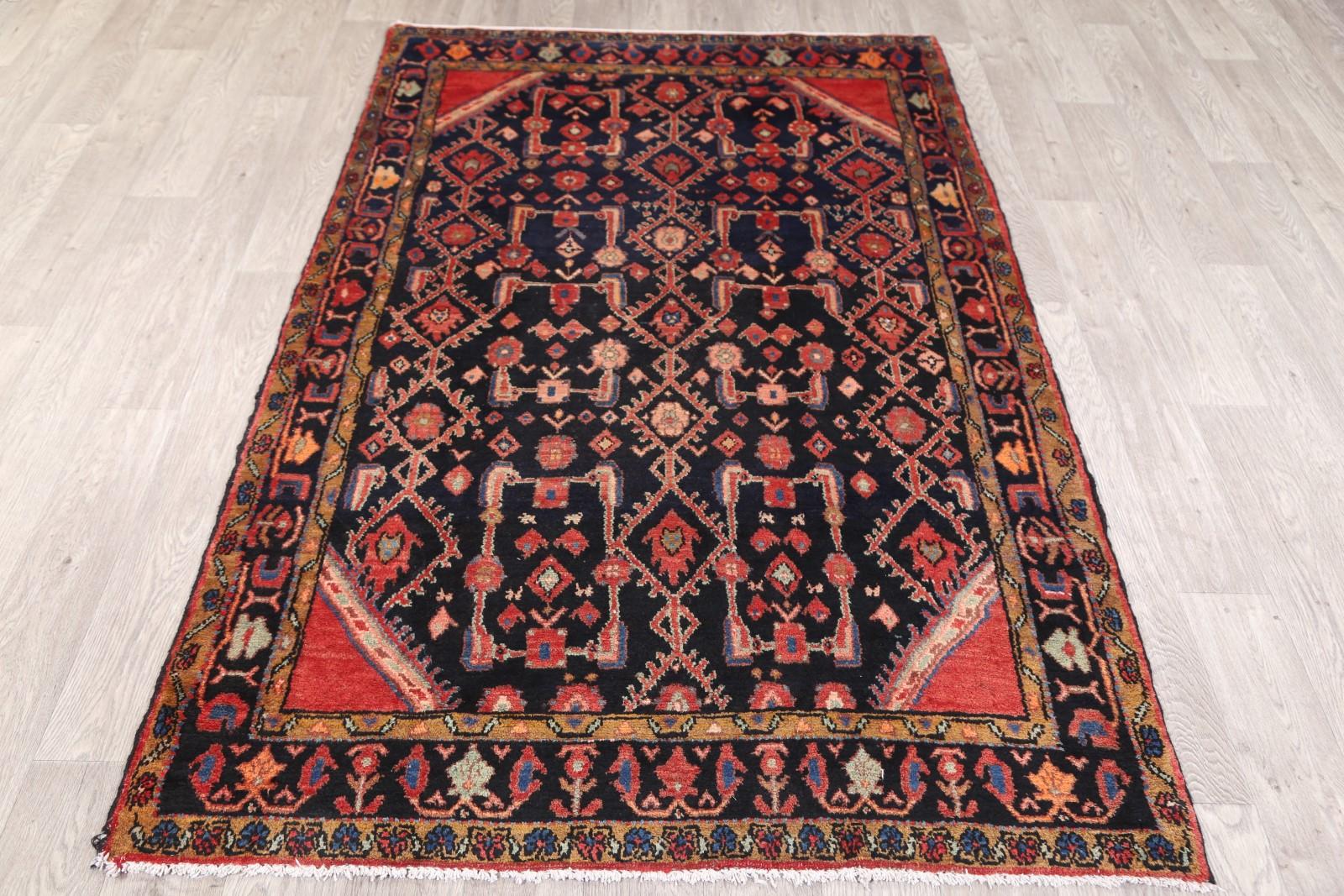 Spectacular Geometric 4x7 Wool Nahavand Hamedan Persian