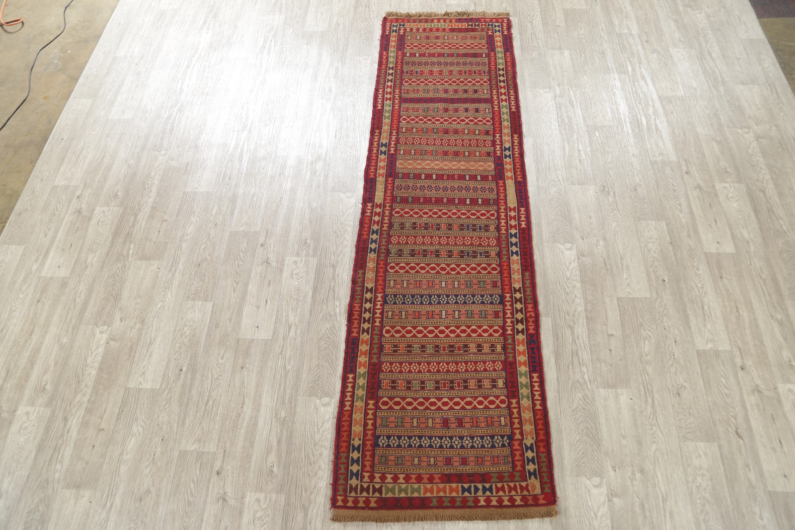 New Fine Handmade Geometric Wool Kilim Oriental Runner Rug 3x9 Ebay