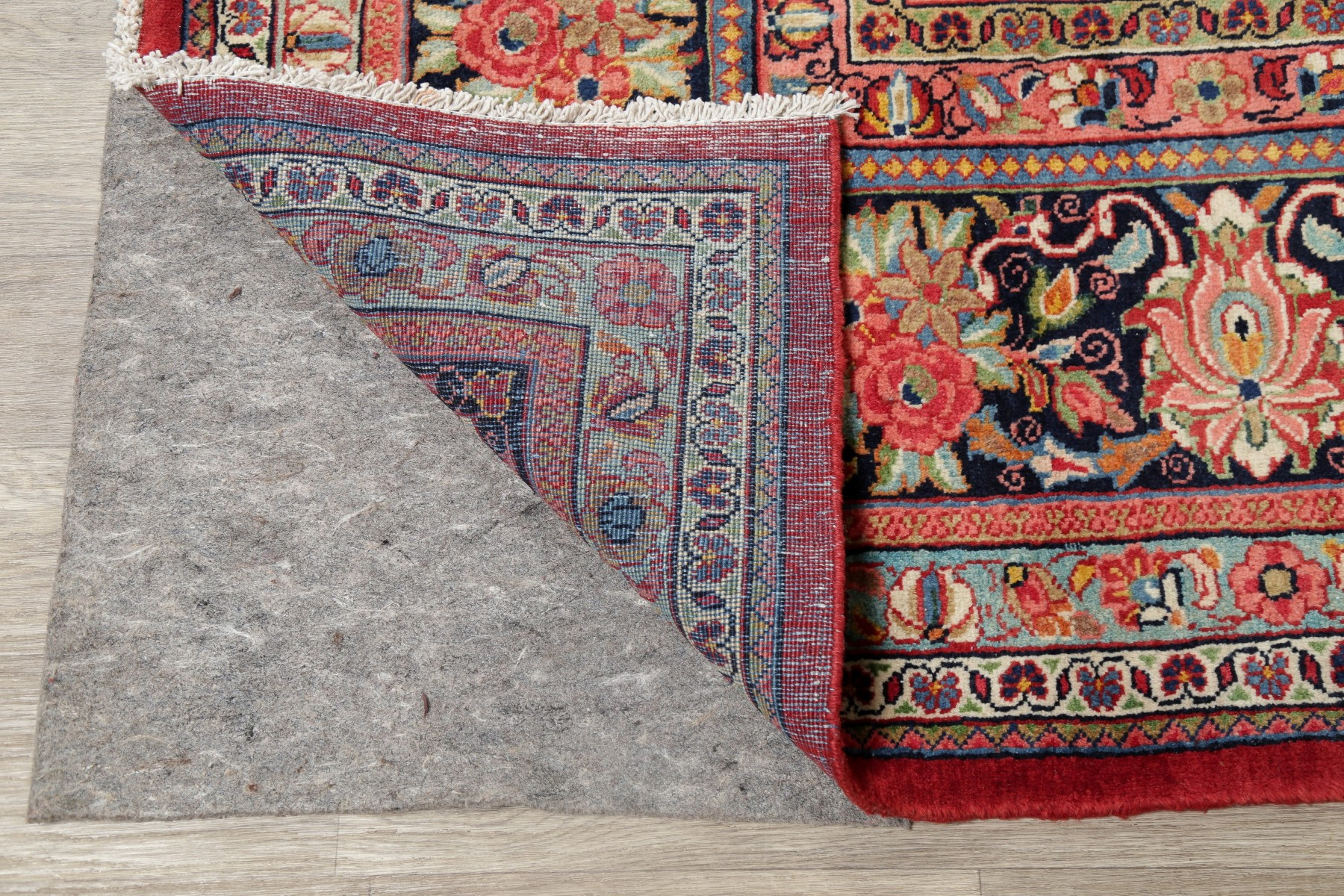 Antique Oriental Floral Mahal Area Rug Wool Hand-Knotted ...