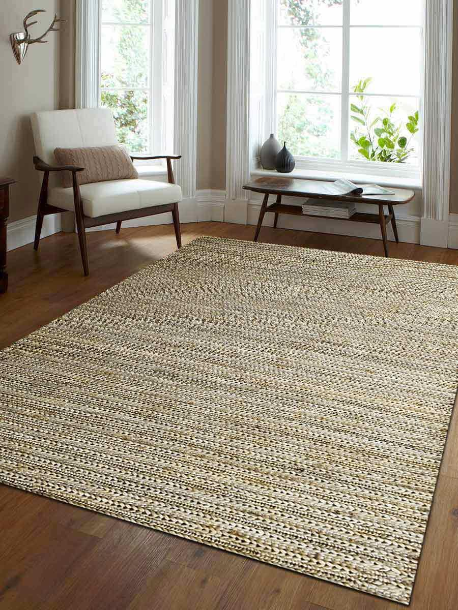 Details About Farmhouse Solid Ivory Sumak Jute Carpet Hand Made Indian Oriental Area Rug 3 X 5