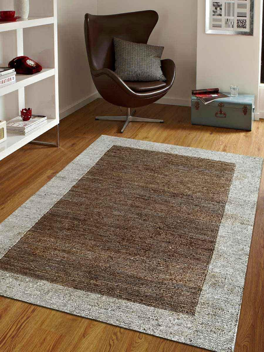 Details About Bordered Hand Knotted Sumak Jute 6x9 Carpet Farmhouse Oriental 8x10 Area Rug 5x8