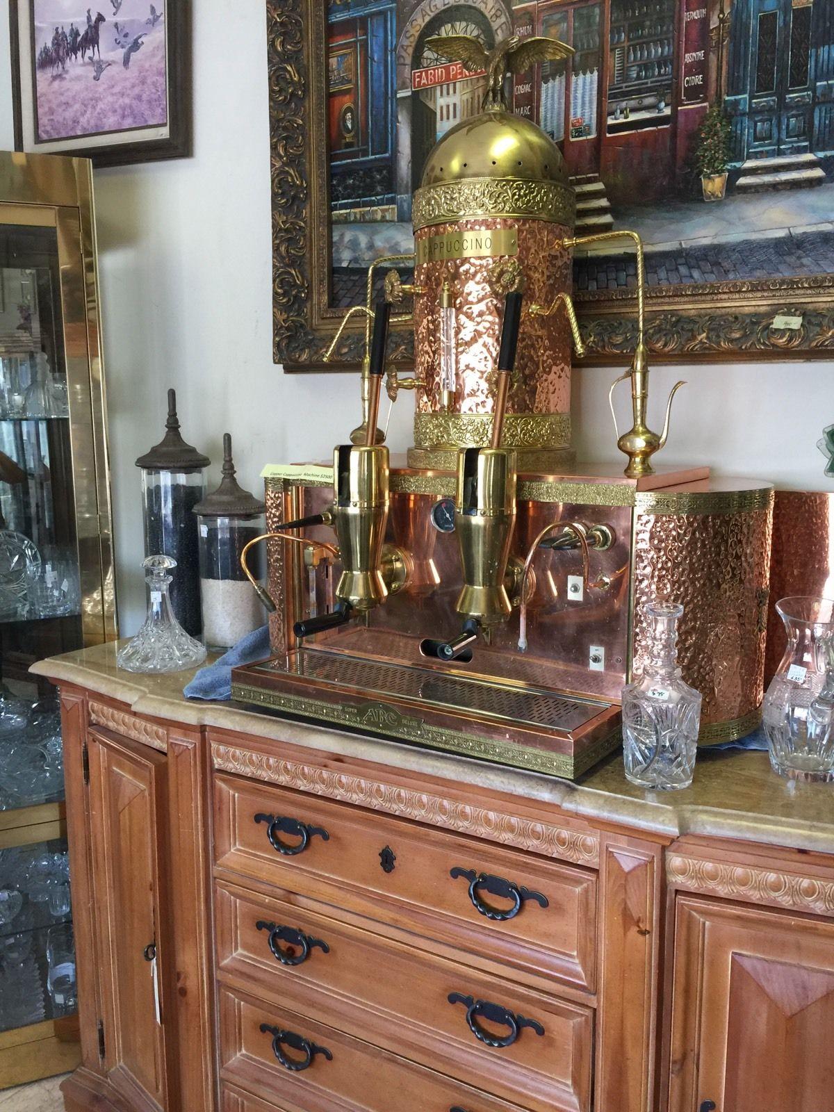antique cappuccino machine