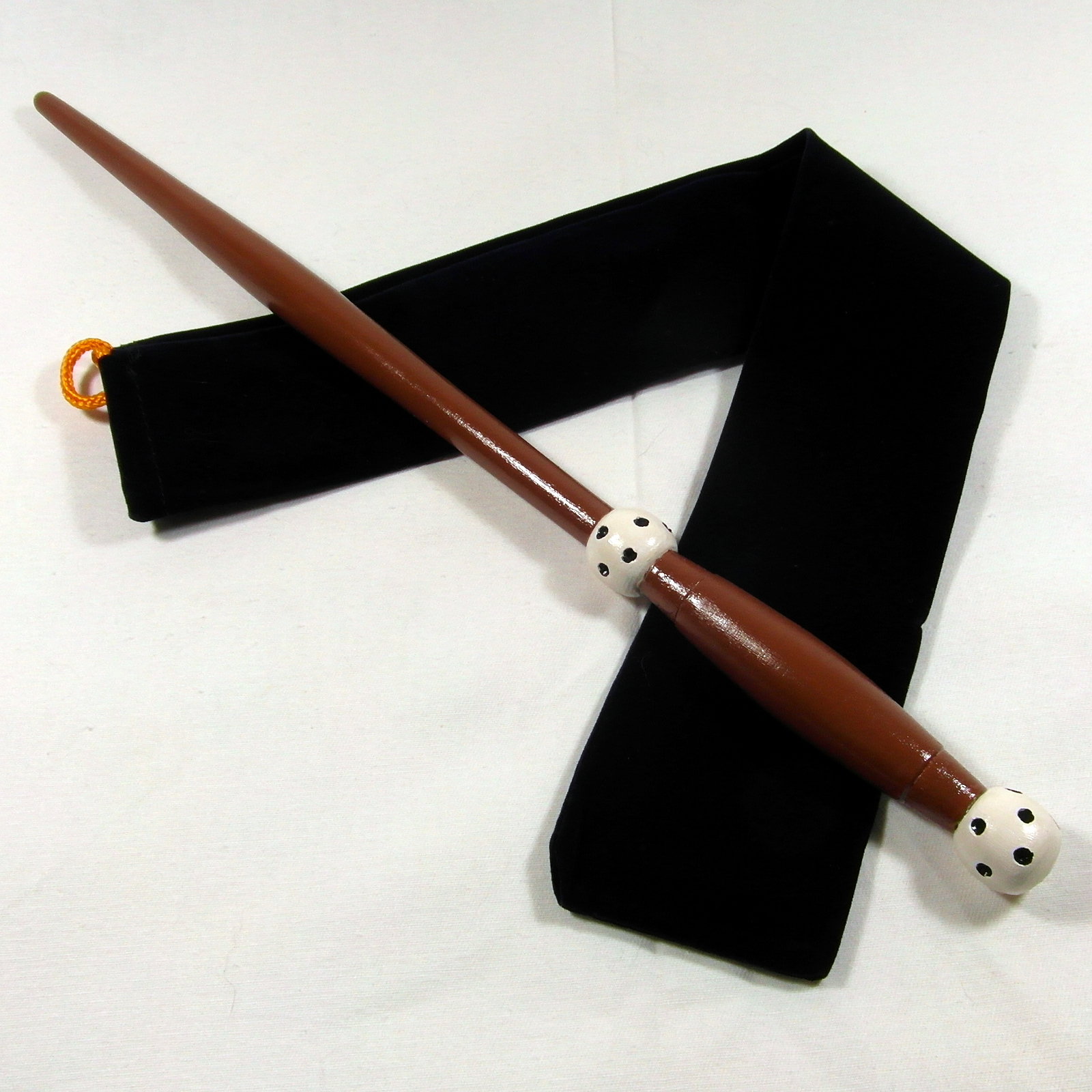 "15"" Hand Turned Cornelious Fudge Almond Wood Magic"