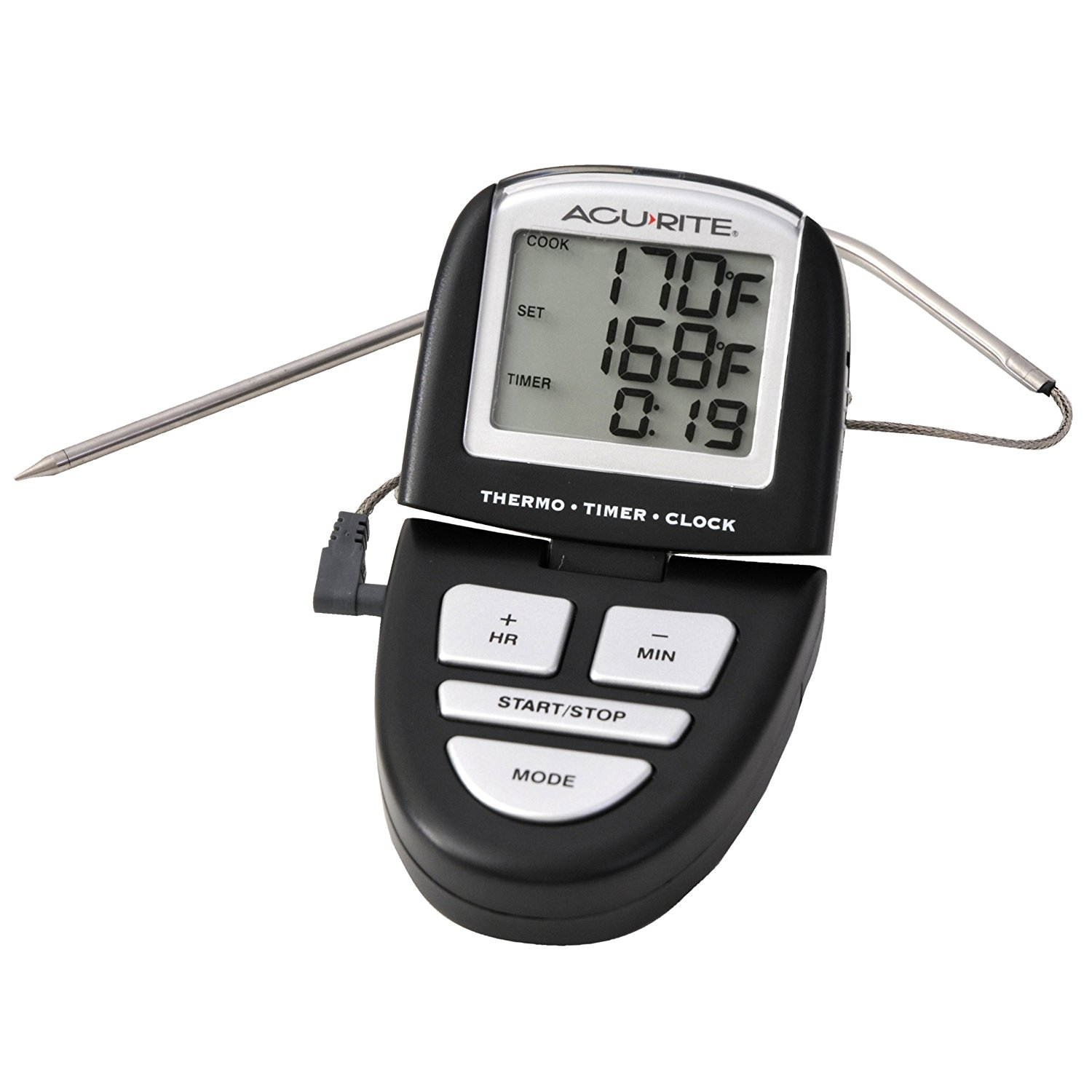acu rite programmable digital grill thermometer timer. Black Bedroom Furniture Sets. Home Design Ideas