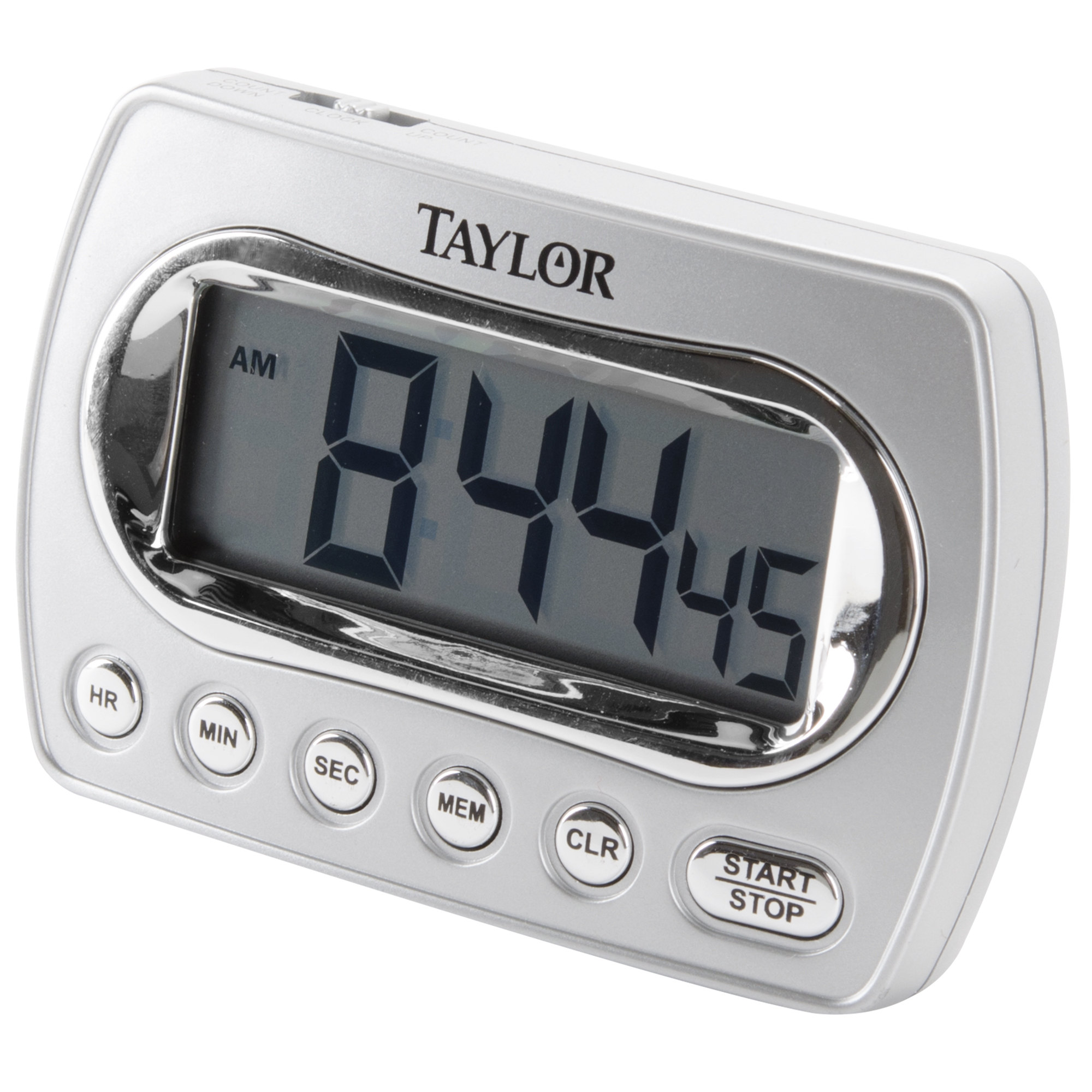 Taylor Digital Chrome Timer With Memory And Clock #5847-21