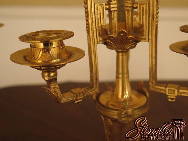 L39831 Antique Pair Bronze Dore French Candelabras C 1800