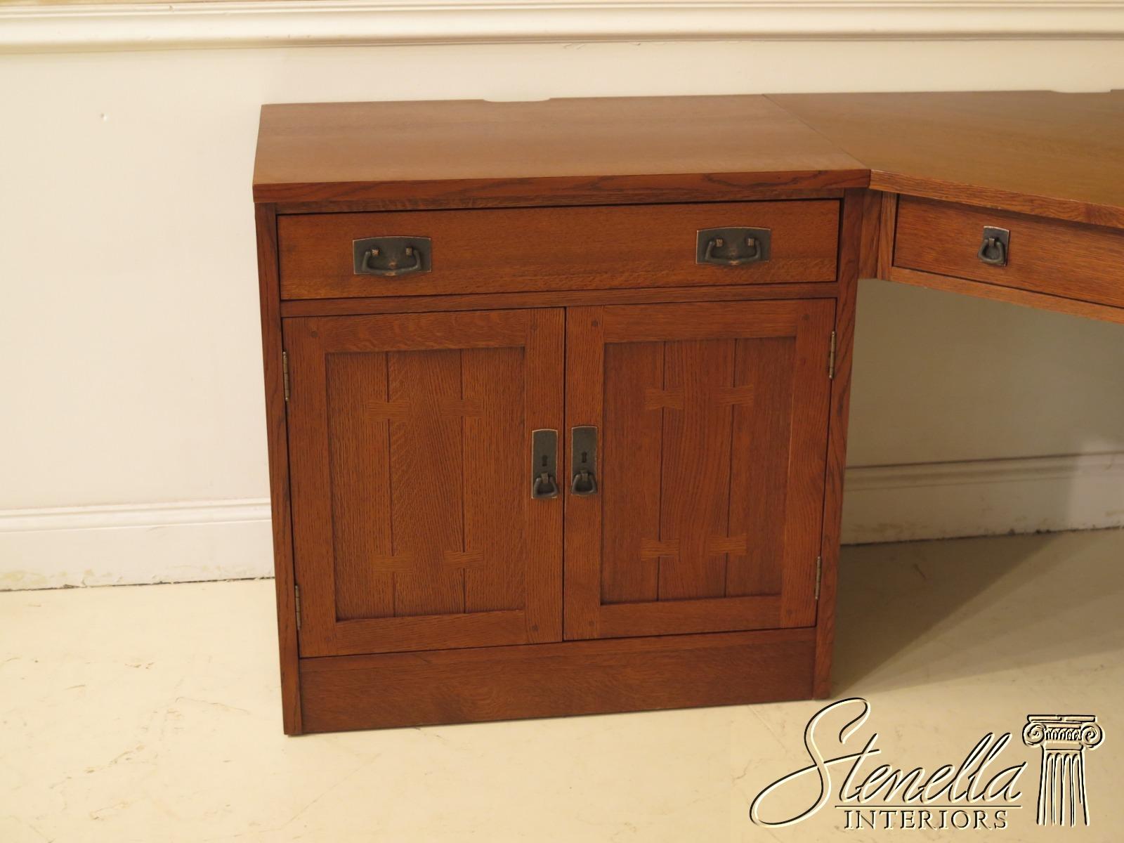 47167ec Stickley 4 Piece Mission Oak Corner Desk Unit