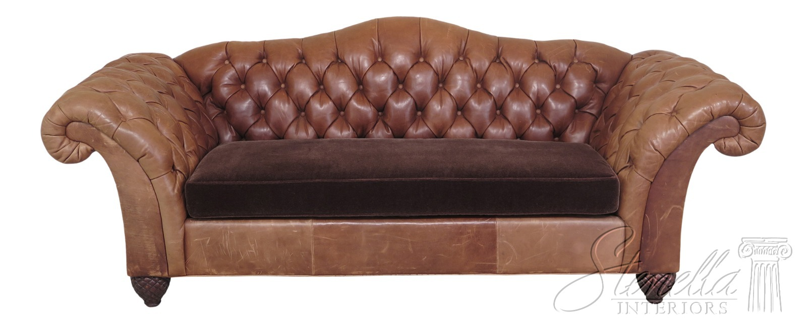 Tufted Leather Chesterfield Style