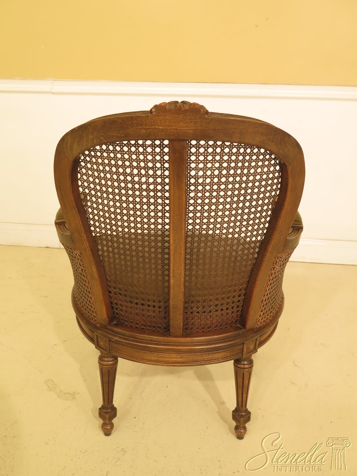 30631ec Pair French Louis Cane Back Vintage Arm Chairs Ebay