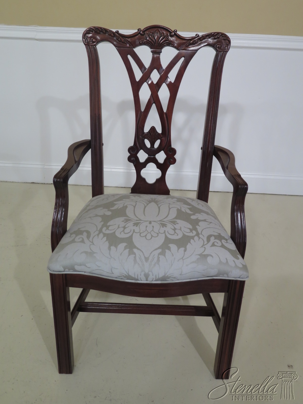 L48694EC: Set Of 6 THOMASVILLE Chippendale Style Mahogany ...