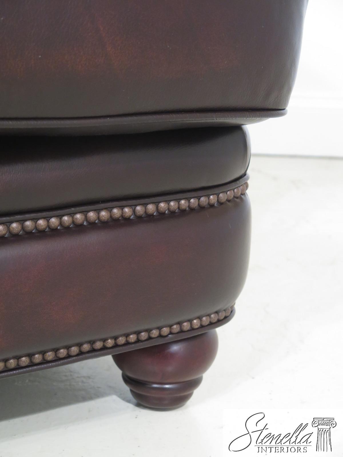 49383: MAITLAND SMITH RA324 Brown Leather Tufted Back Sofa