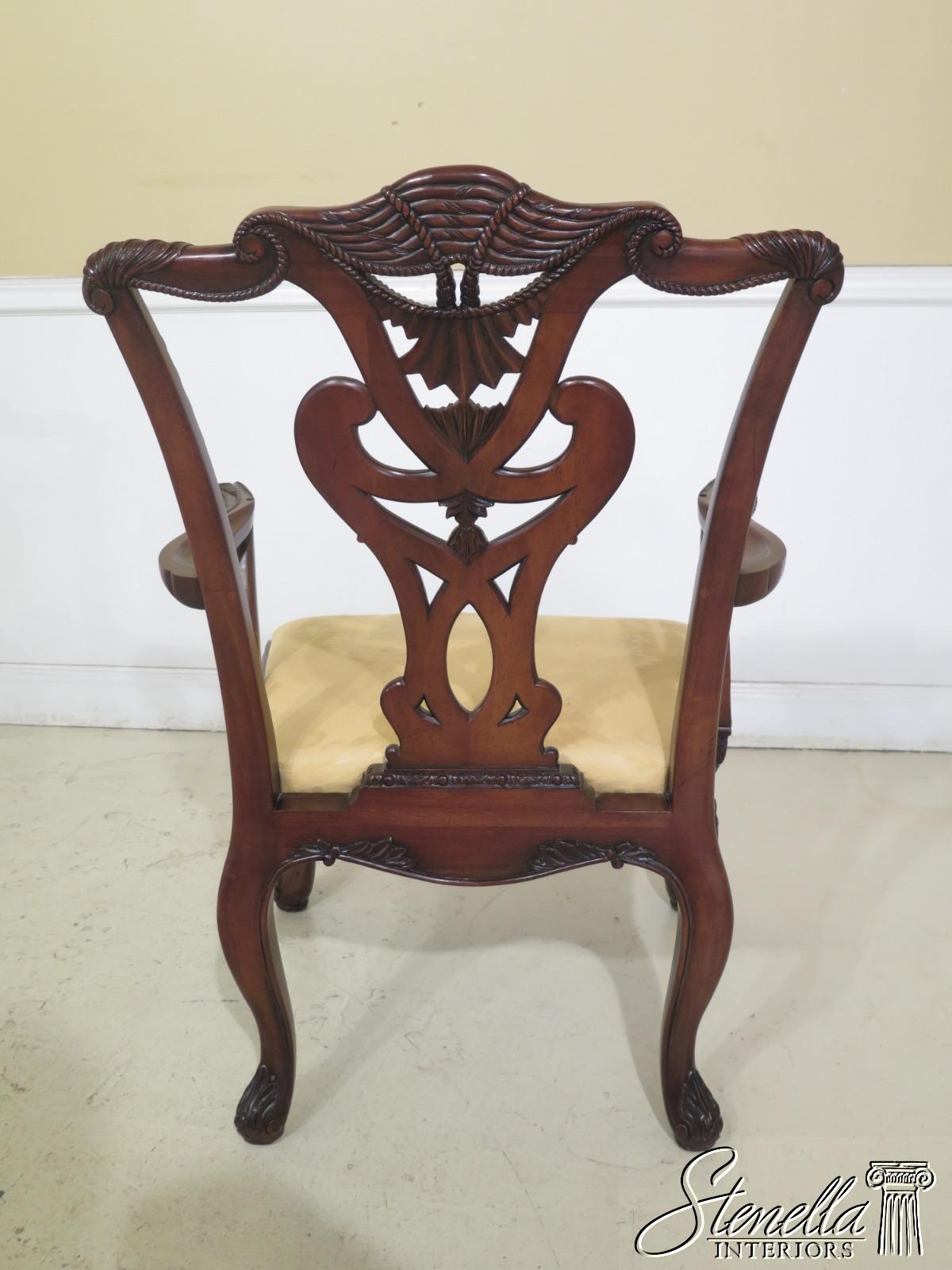 L31455EC: Set Of 12 HENREDON Georgian Style Mahogany ...