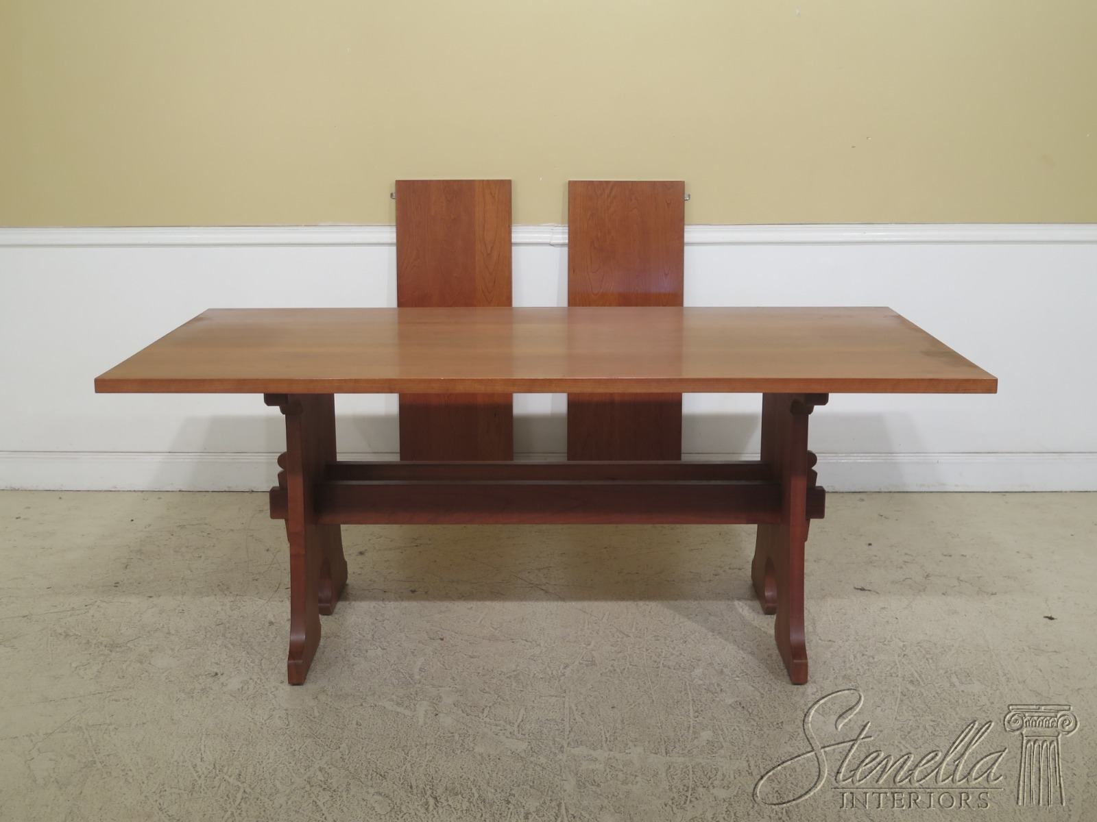 Details about F31010EC: STICKLEY Solid Cherry Mission Style Dining Room  Table