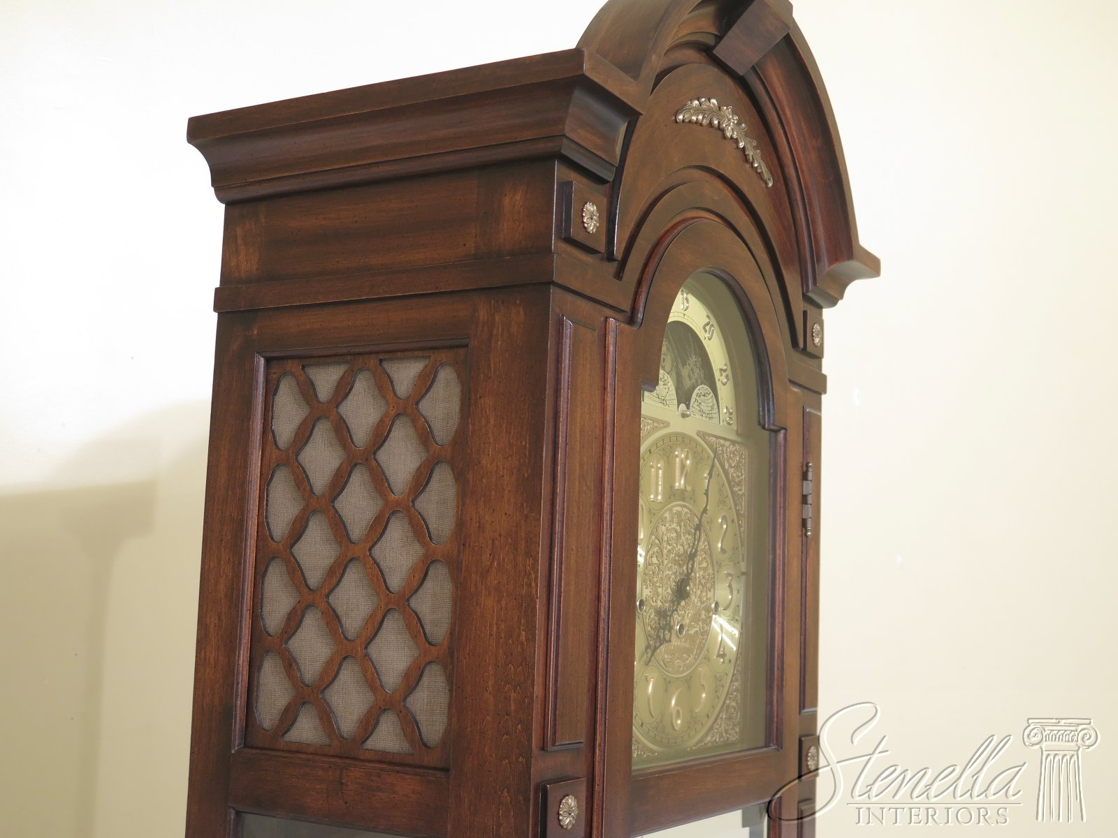 47726ec Herschede Cherry Tall Cased Grandfather Clock Ebay
