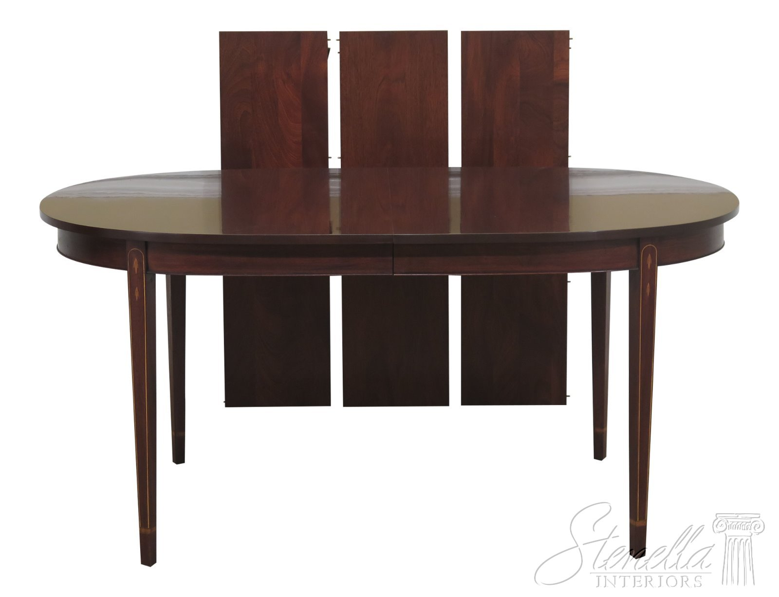 Details about 29765EC: HENKEL HARRIS Federal Inlaid Mahogany Dining Room  Table