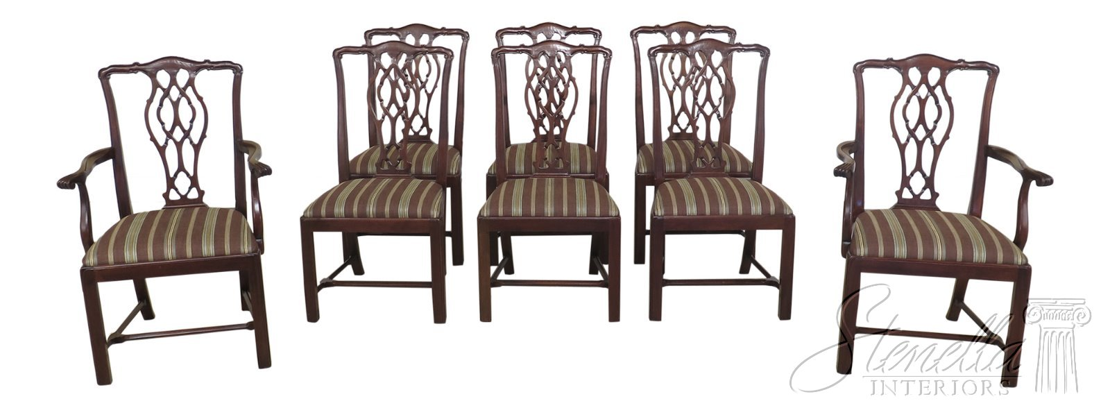 Swell Details About L47714Ec Set Of 8 Hickory Chair Co Mahogany Chippendale Dining Chairs Forskolin Free Trial Chair Design Images Forskolin Free Trialorg