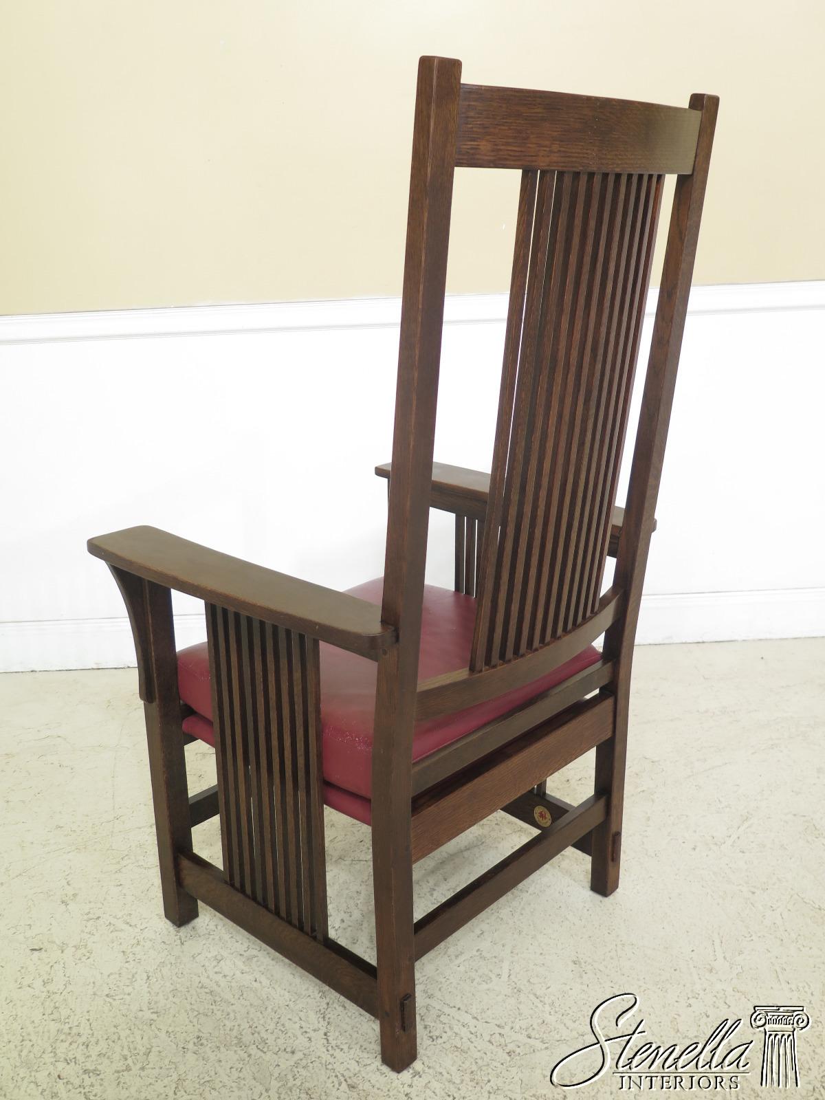 Stickley Dining Room Furniture: 47494EC: Set Of 8 STICKLEY Mission Oak High Back Dining