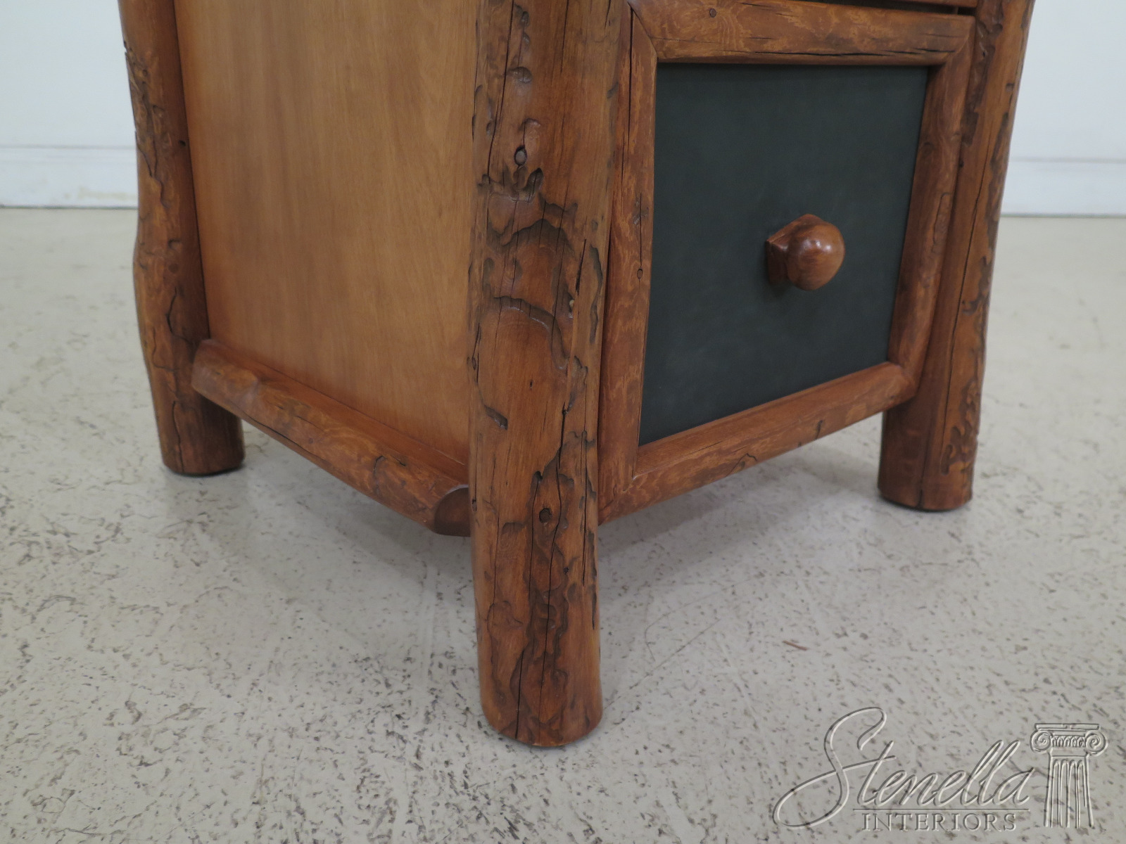 Details About F30706ec Unique Adirondack Style 2 Drawer Oversized Nightstand