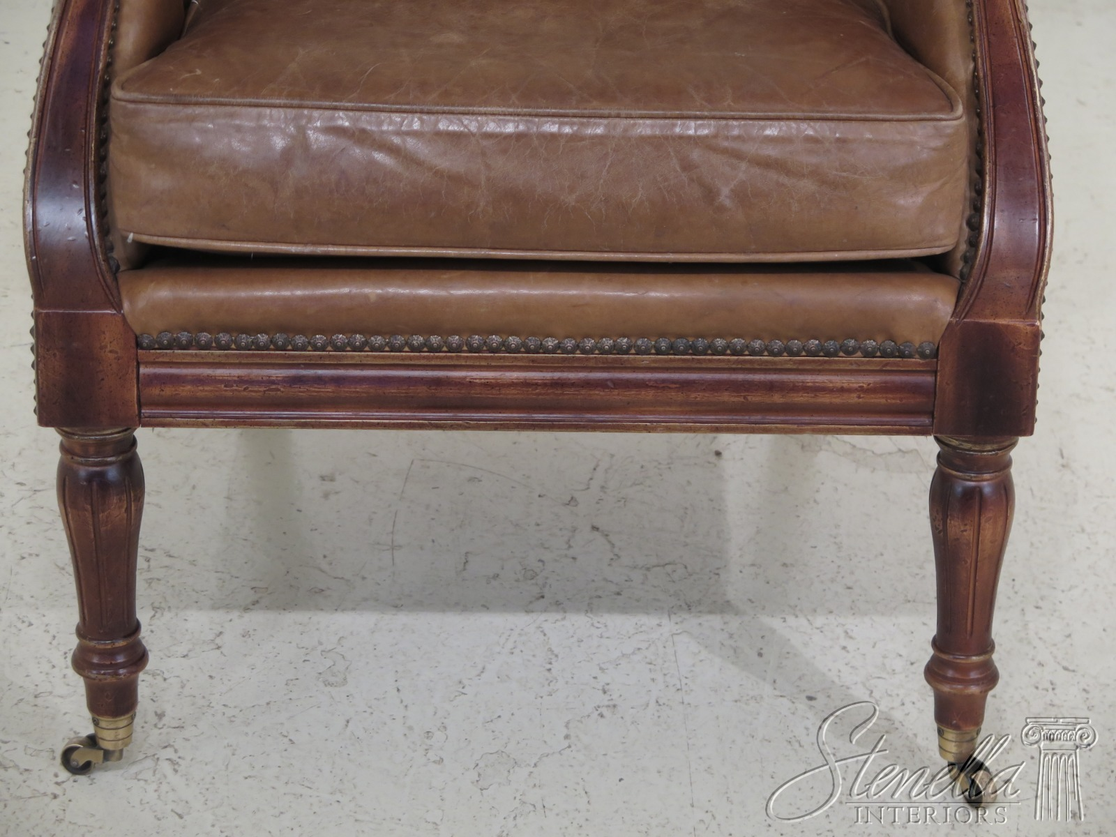 Excellent F30658Ec Wesley Hall Tufted Tan Leather Chesterfield Style Uwap Interior Chair Design Uwaporg