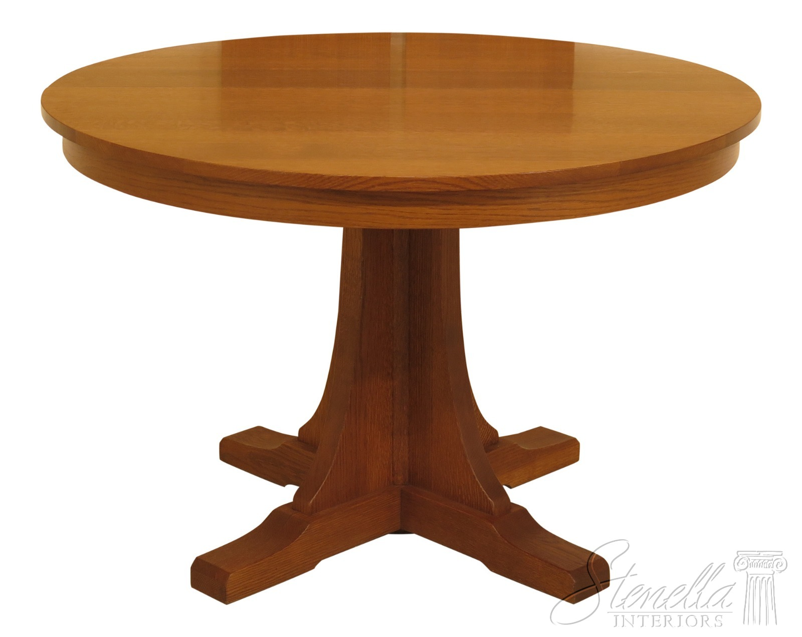 "Details about 30607EC: STICKLEY 46"" Round Mission Oak Dining Room Table"